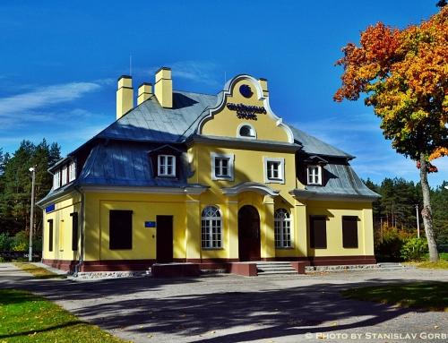 Pati gražiausia Lietuviška geležinkelio stotis Naujuosiuose Valkininkuose